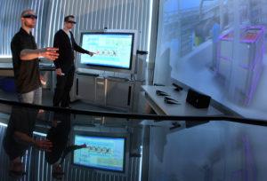Digitale Planung, Simulation und Visualisierung in 3D und Virtual Reality. || Foto: © Uwe Meinhold, TU Chemnitz