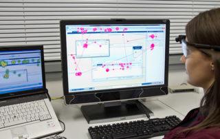 Eye-Tracking-Untersuchungen im Usability-Labor||Foto: © TU Chemnitz