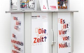 Stand des Mittelstand 4.0-Kompetenzzentrum Chemnitz auf der HMI || © TU Chemnitz, Thomas Sera