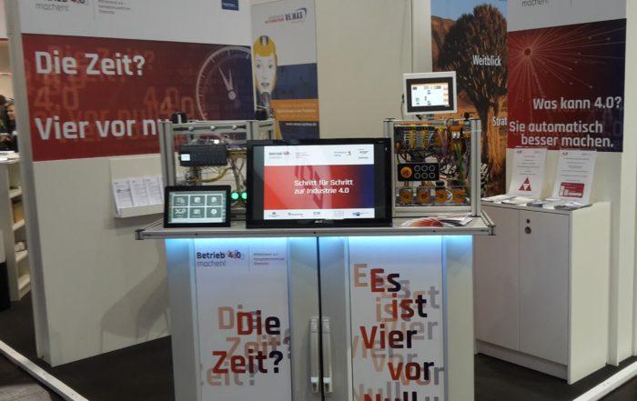 Das Mittelstand 4.0-Kompetenzzentrum auf der INTEC || © TU Chemnitz, Romy Kertzsch