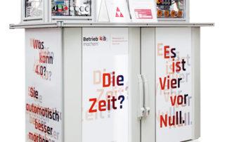 Stand des Mittelstand 4.0-Kompetenzzentrum Chemnitz auf der Intec || © TU Chemnitz, Thomas Sera