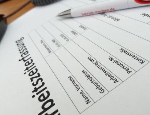 Arbeitsrecht: Aufzeichnung von Mehrarbeit – Behörde verlangt Arbeitszeitnachweise