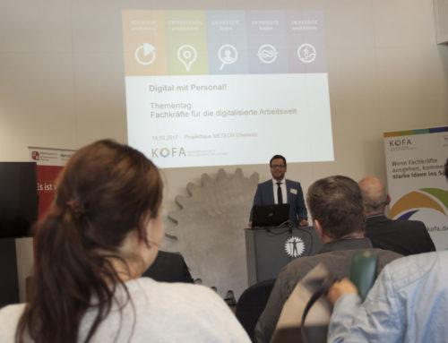 """Thementag """"Fachkräfte für die digitalisierte Arbeitswelt"""" – Rückblick 18.10.2017"""