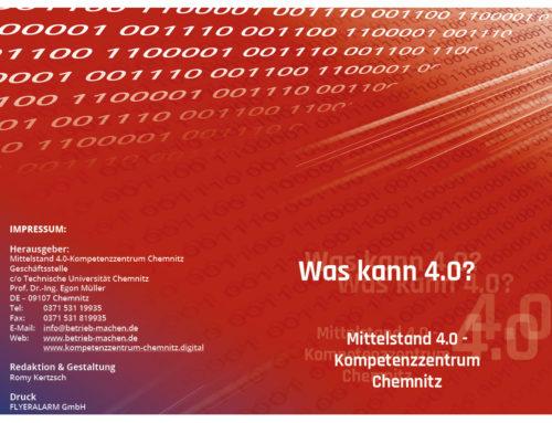 Flyer Mittelstand 4.0-Kompetenzzentrum Chemnitz