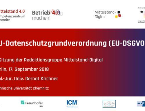 EU-DSGVO für Mittelstand 4.0-Kompetenzzentren