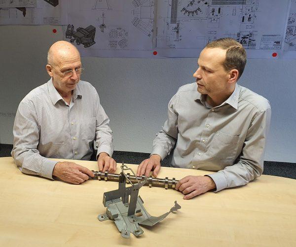 Experten im Dialog: Prof. Dr. Egon Müller und Heiko Jaeger, Geschäftsführer der MSA Chemnitz GmbH   © Egon Müller