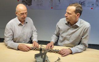 Experten im Dialog: Prof. Dr. Egon Müller und Heiko Jaeger, Geschäftsführer der MSA Chemnitz GmbH|| © Egon Müller