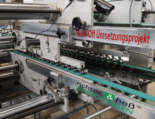 Kick-Off des Umsetzungsprojektes mit richter & heß VERPACKUNGS-SERVICE GmbH