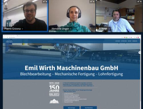 Kick-Off des Umsetzungsprojektes mit Emil Wirth Maschinenbau GmbH