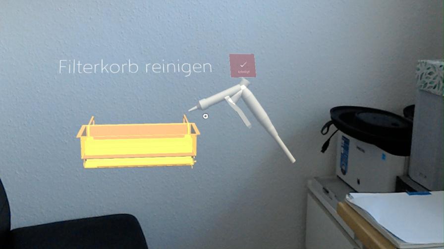 Korb reinigen || © CE cideon engineering GmbH & Co. KG