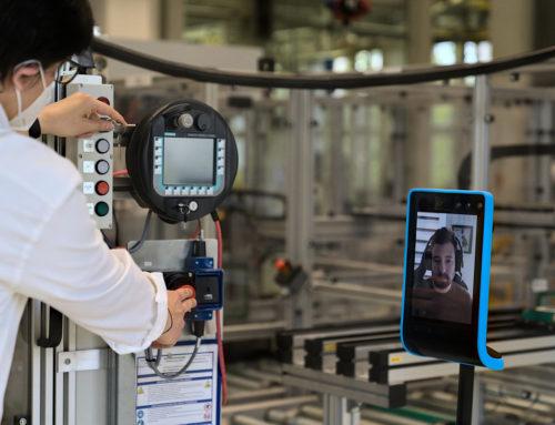 Technologie-Erprobung zum Einsatz eines Telepräsenzroboters in der Industrie