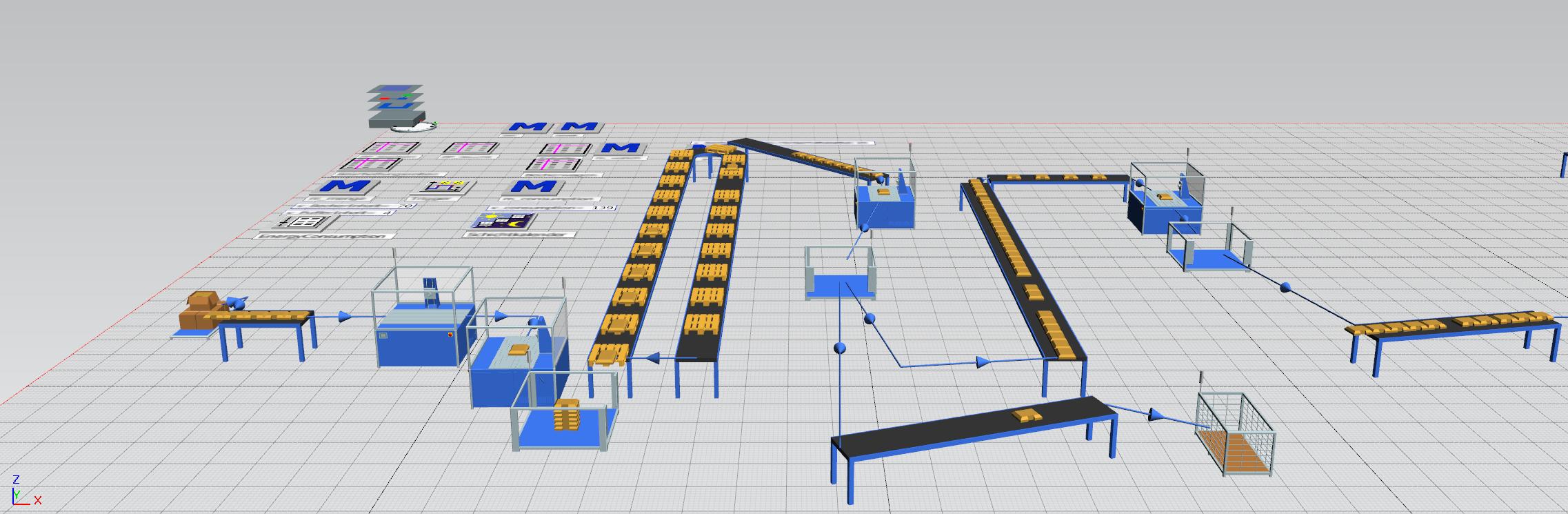3D-Simulation eines Fertigungsabschnitts ||© Fraunhofer IWU