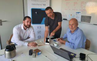 Expertengespräch in der Firma 3dvisionlabs GmbH Chemnitz, mit dem Geschäftsführer Herr Dr.-Ing. Michael Findeisen und mit dem Verkaufsleiter Herrn Alexander Hentschel, M. Sc. || © TU Chemnitz